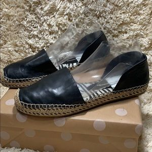 Dolce Vita D'Orsay Espadrilles Black Leather